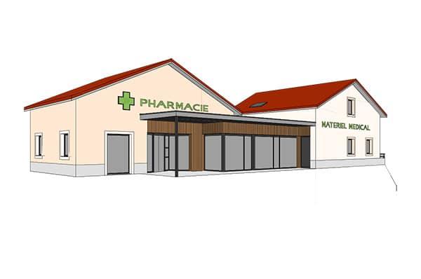 Construction pharmacie à Orchamp