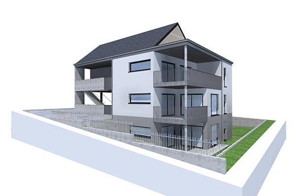 Etude thermique pour 3 logements Hegenheim